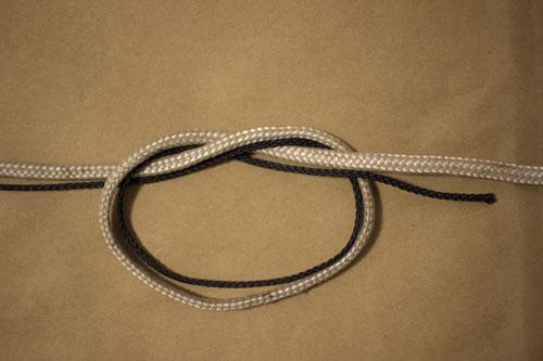Etape 3 : le noeud simple une fois réalisé