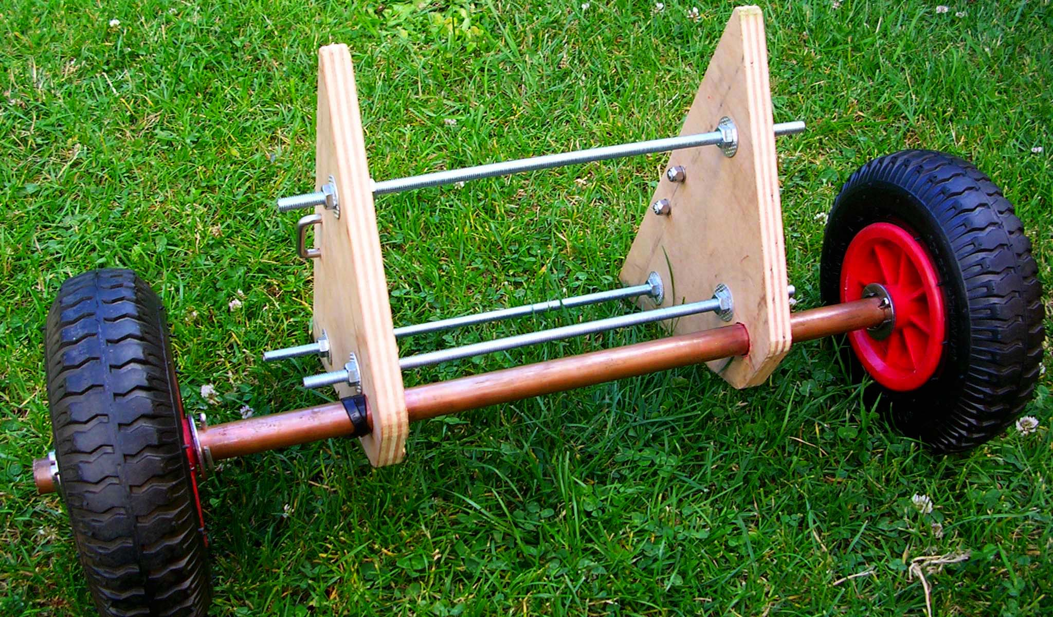 Fabrication d'un chariot pour kayak