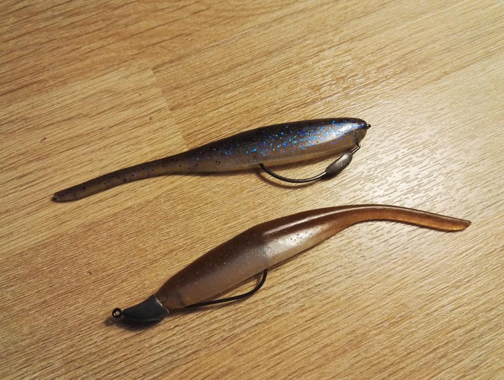 Deux montages texans légèrement plombés pour pêcher les bordures et la végétation
