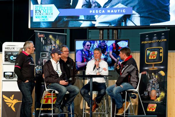 L'équipe Pescanautic sur le plateau de FishingTV